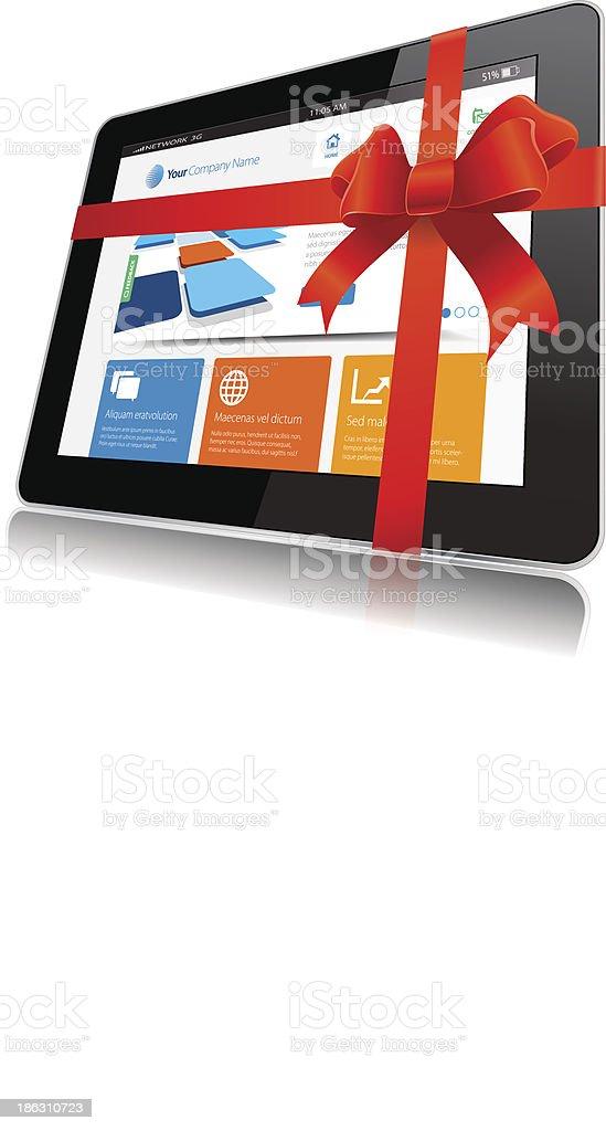 Internet Tablet royalty-free stock vector art