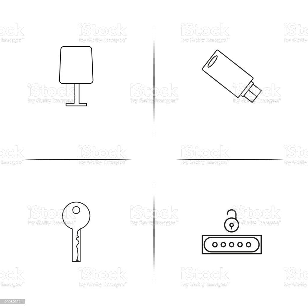 Internet Technologies Simple Linear Icon Setsimple Outline