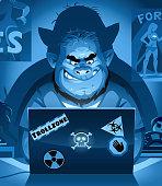 istock Internet Troll At Night 1205458128
