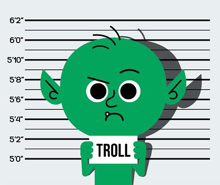 Internet Troll Mugshot Cyberbullying Mocking Trolling Online Chat