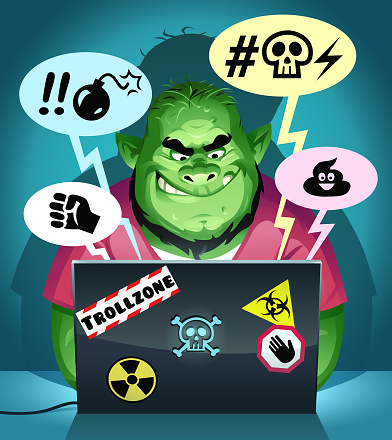 Internet Troll Posting Mean Comments