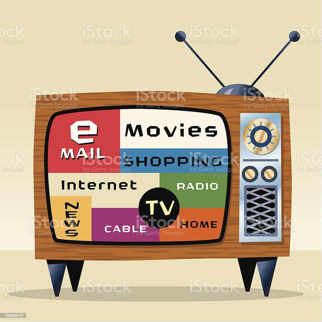 Internet TV royalty-free stock vector art