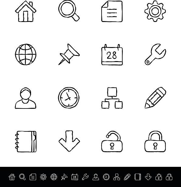 Internet-Icons – Vektorgrafik