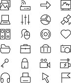 Internet Vector Line Icons 2