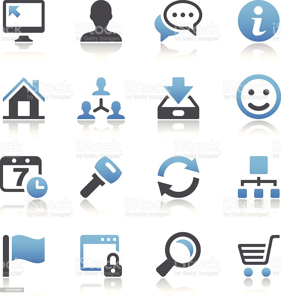 Internet & Web Icons vector art illustration