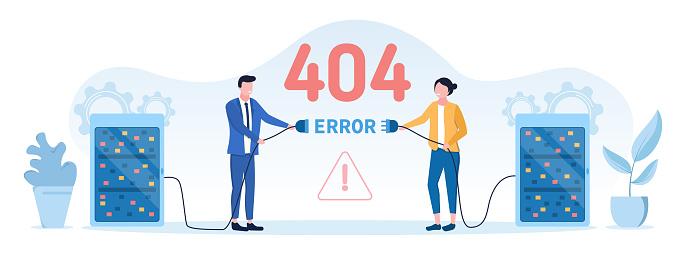 404 internet web page error - Not Found concept