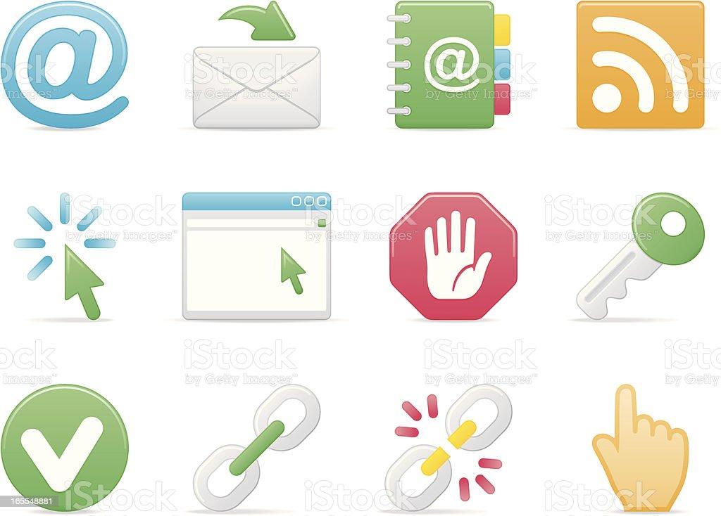 internet & website icon set part IV soft modern royalty-free internet website icon set part iv soft modern stock vector art & more images of 'at' symbol