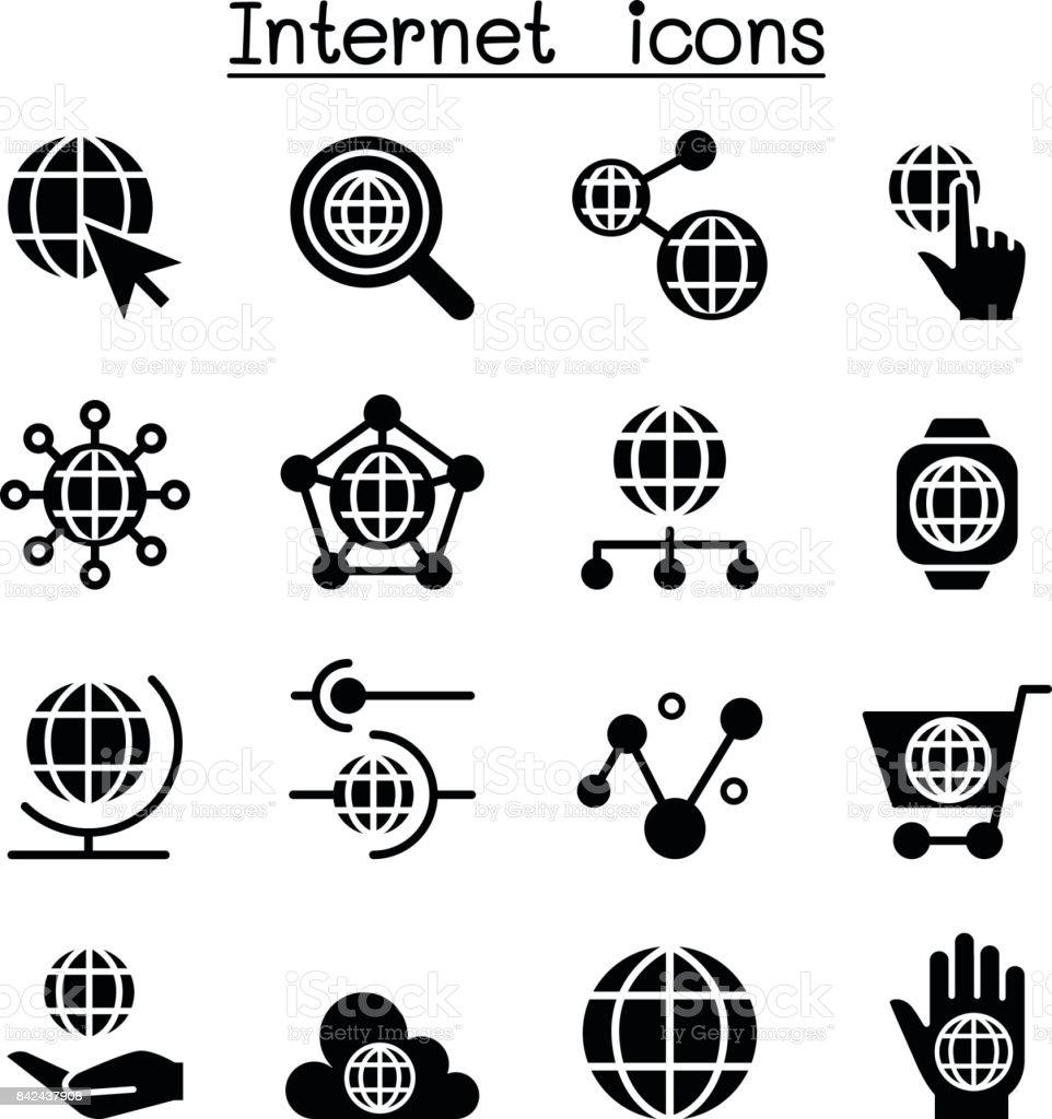 Internet , Website, Technology icons vector art illustration