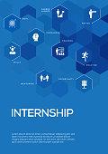 Internship. Brochure Template Layout, Cover Design