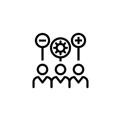 Interpersonal Skills Line Icon Stock Illustration