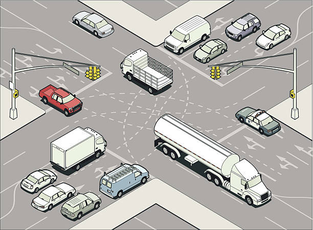 Intersection Illustration vector art illustration