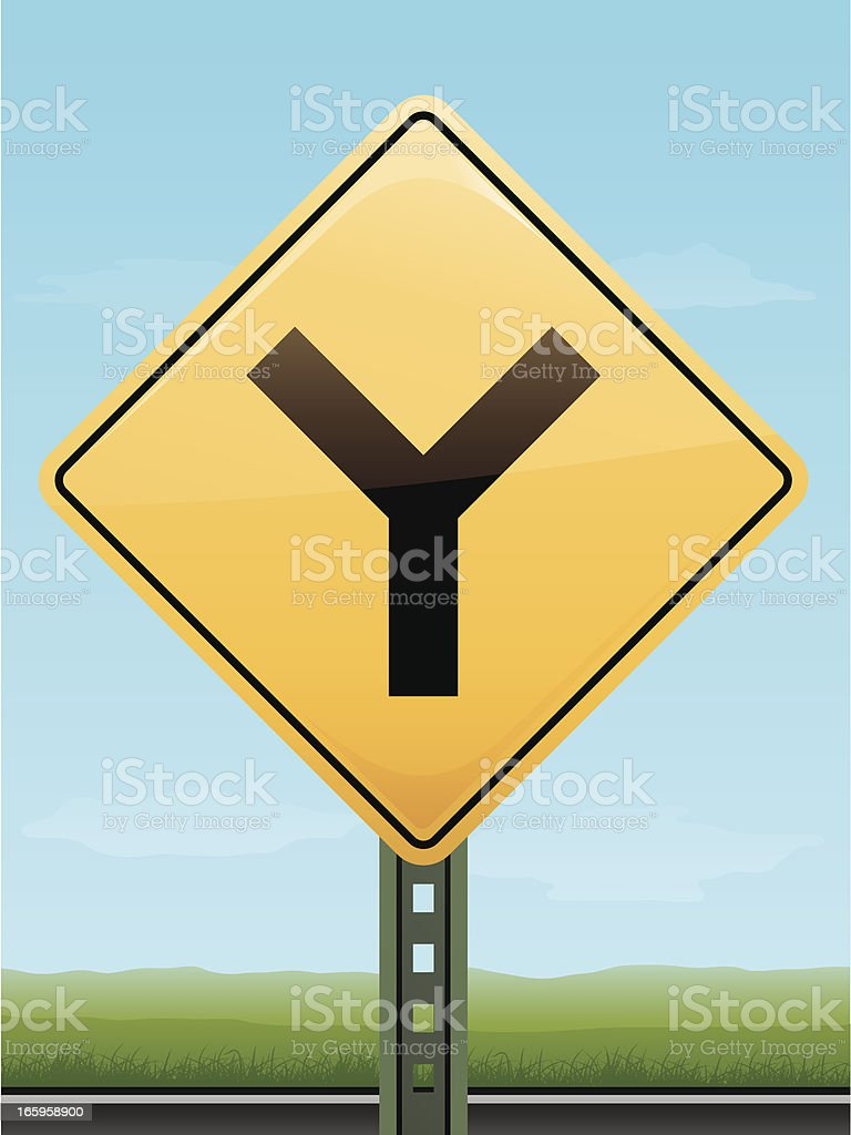 Intersection Road Sign royalty-free stock vector art