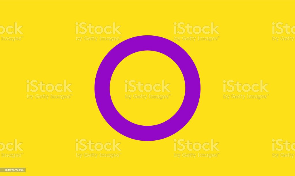 Intersex pride flag - one of the sexual minority of LGBT community vector art illustration