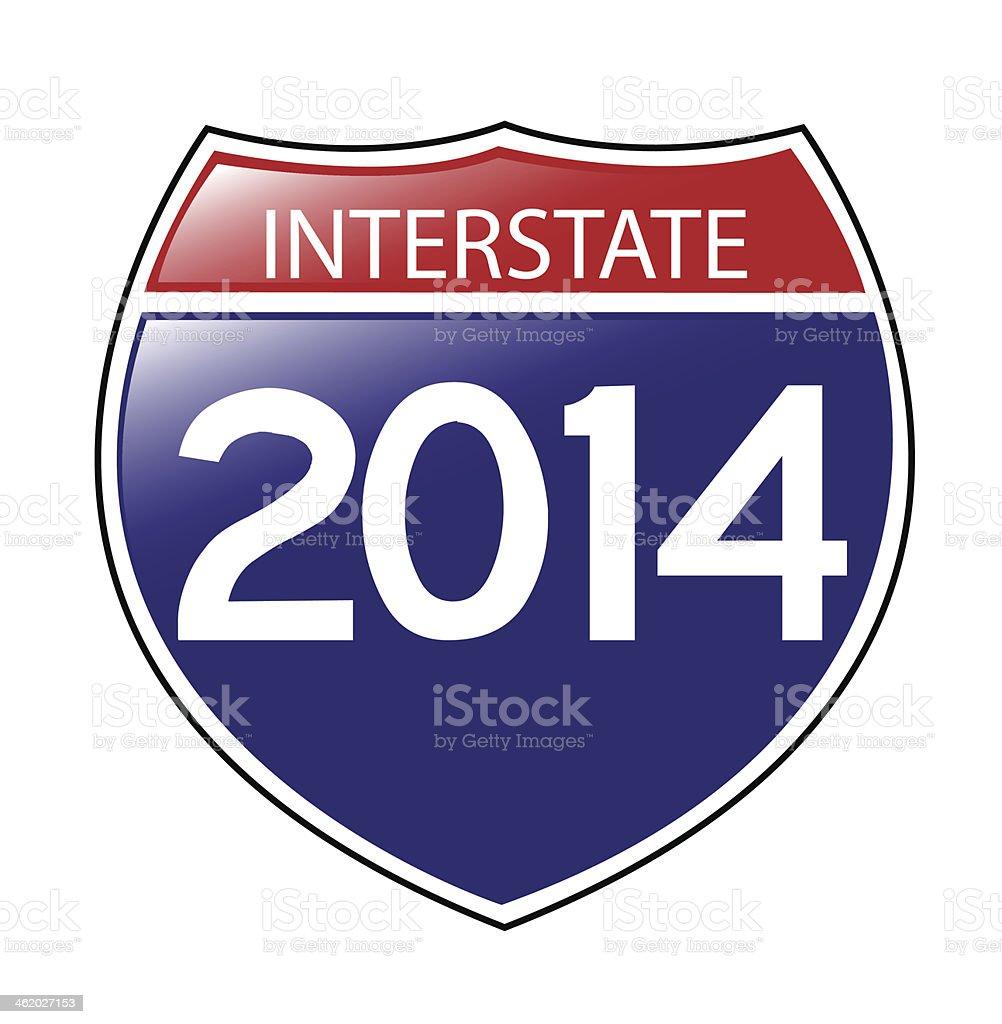 Interstate 2014 vector art illustration