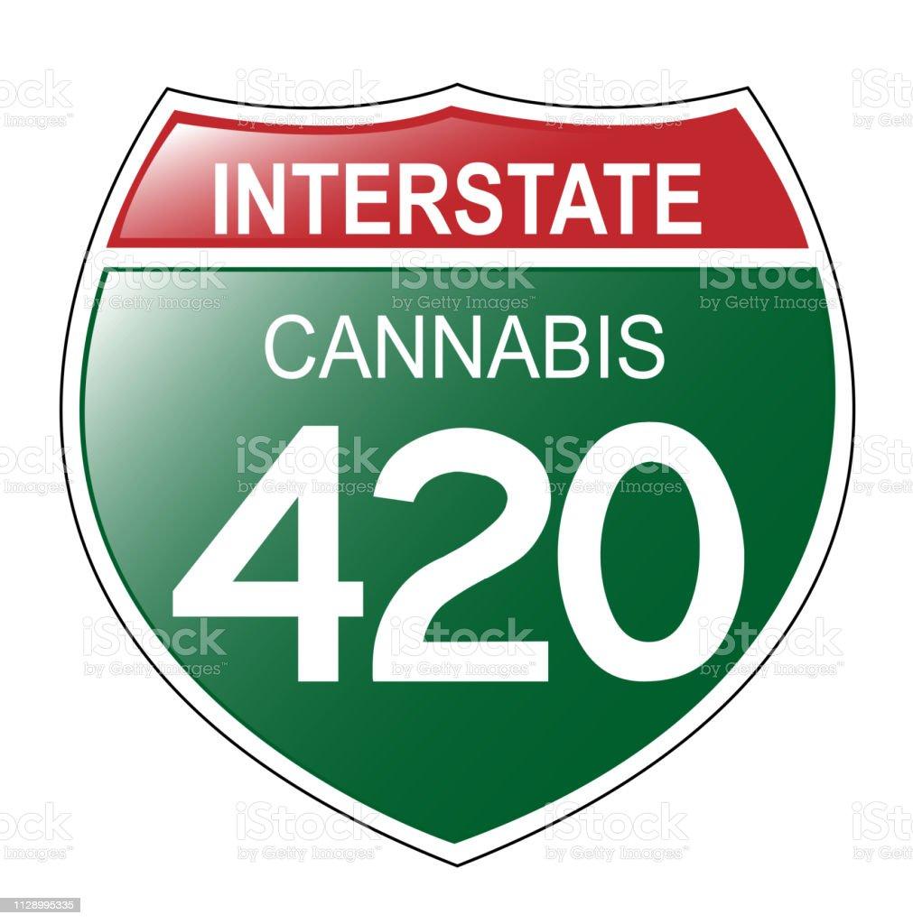 Interstate 420 Sign vector art illustration