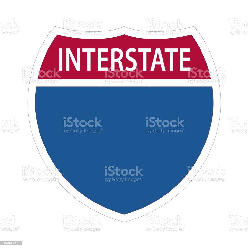 Interstate Highway Signs. royalty-free interstate highway signs stock illustration - download image now