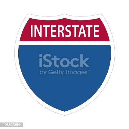 Interstate Highway Signs - US ROAD SIGN VECTOR EPS 10.