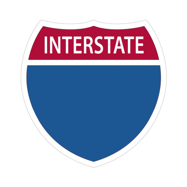 Interstate Highway Signs. Interstate Highway Signs - US ROAD SIGN VECTOR EPS 10. highway stock illustrations