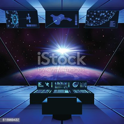 istock Interstellar Travel in a Spaceship 515969432