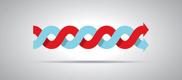 intertwined arrows - verdreht stock-grafiken, -clipart, -cartoons und -symbole