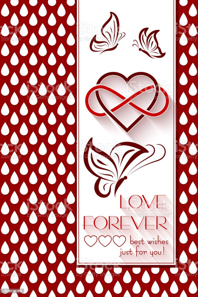 Ineinander Verschlungen Herzen Liebe Für Immer Stock Vektor Art Und