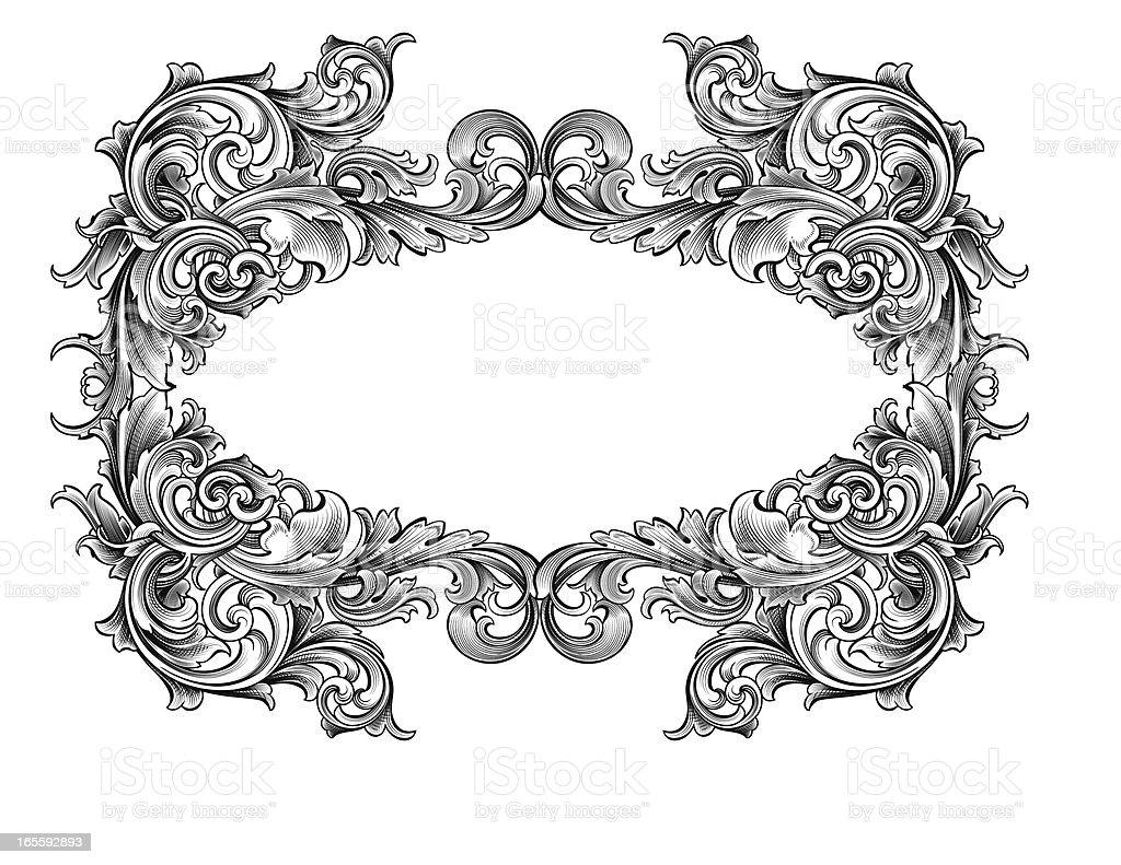 Intertwining Frame royalty-free stock vector art