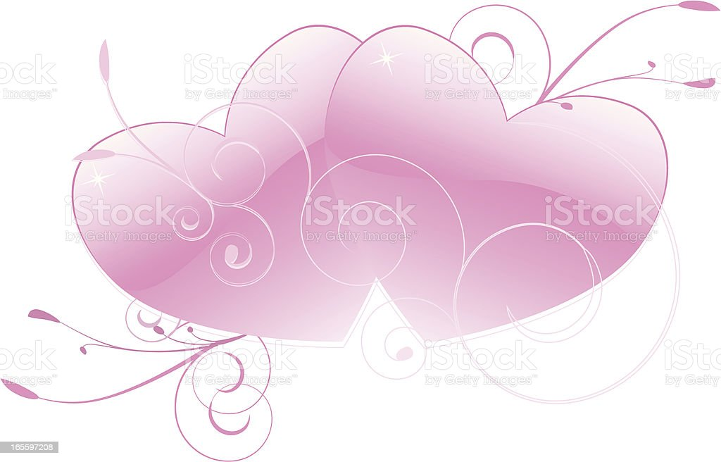 Rosa corazones y adornos Intertwining ilustración de rosa corazones y adornos intertwining y más banco de imágenes de adolescente libre de derechos