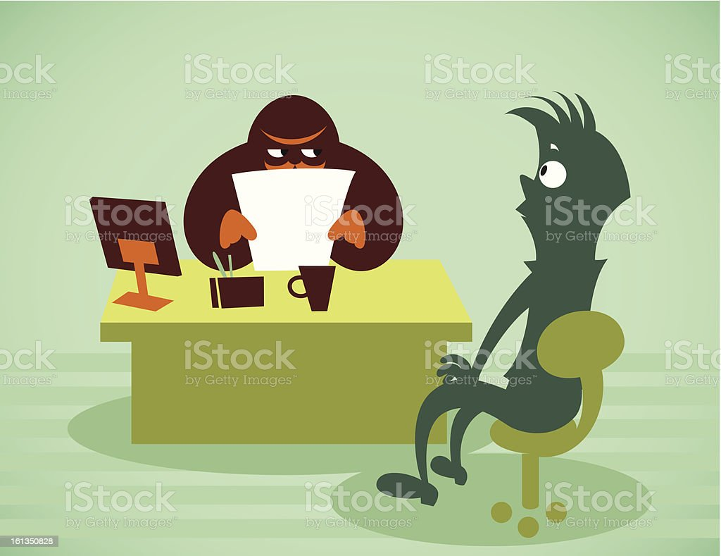Interview for work royalty-free stock vector art
