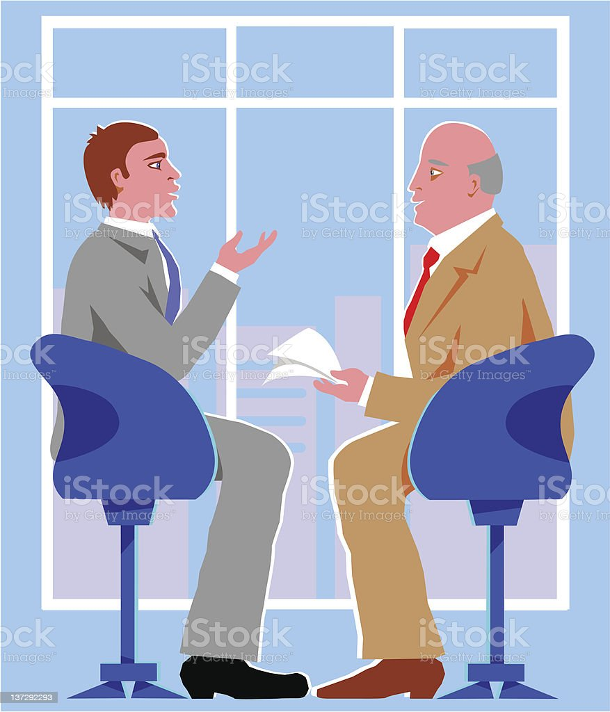 Interview royalty-free stock vector art