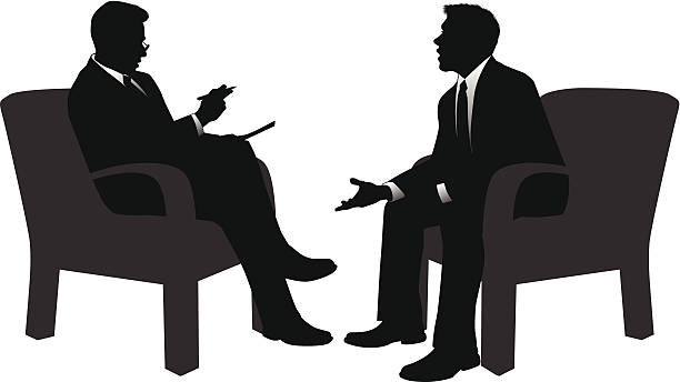 Interview vector art illustration
