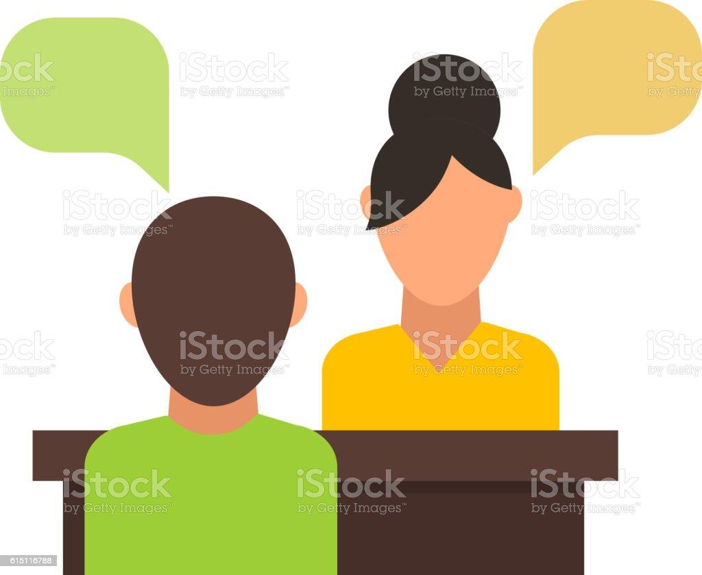 Interview vector illustration. vector art illustration