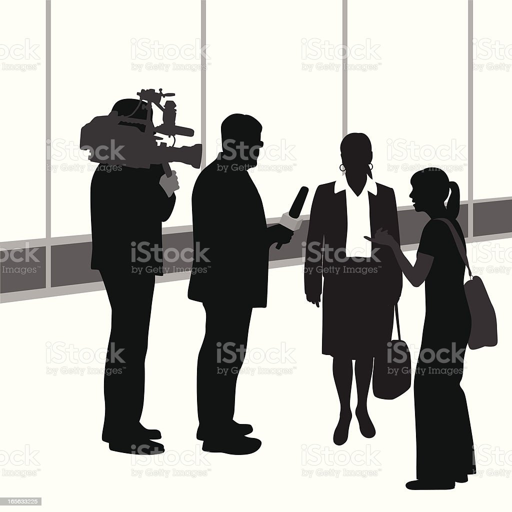 Interviewing Vector Silhouette royalty-free interviewing vector silhouette stock vector art & more images of adult