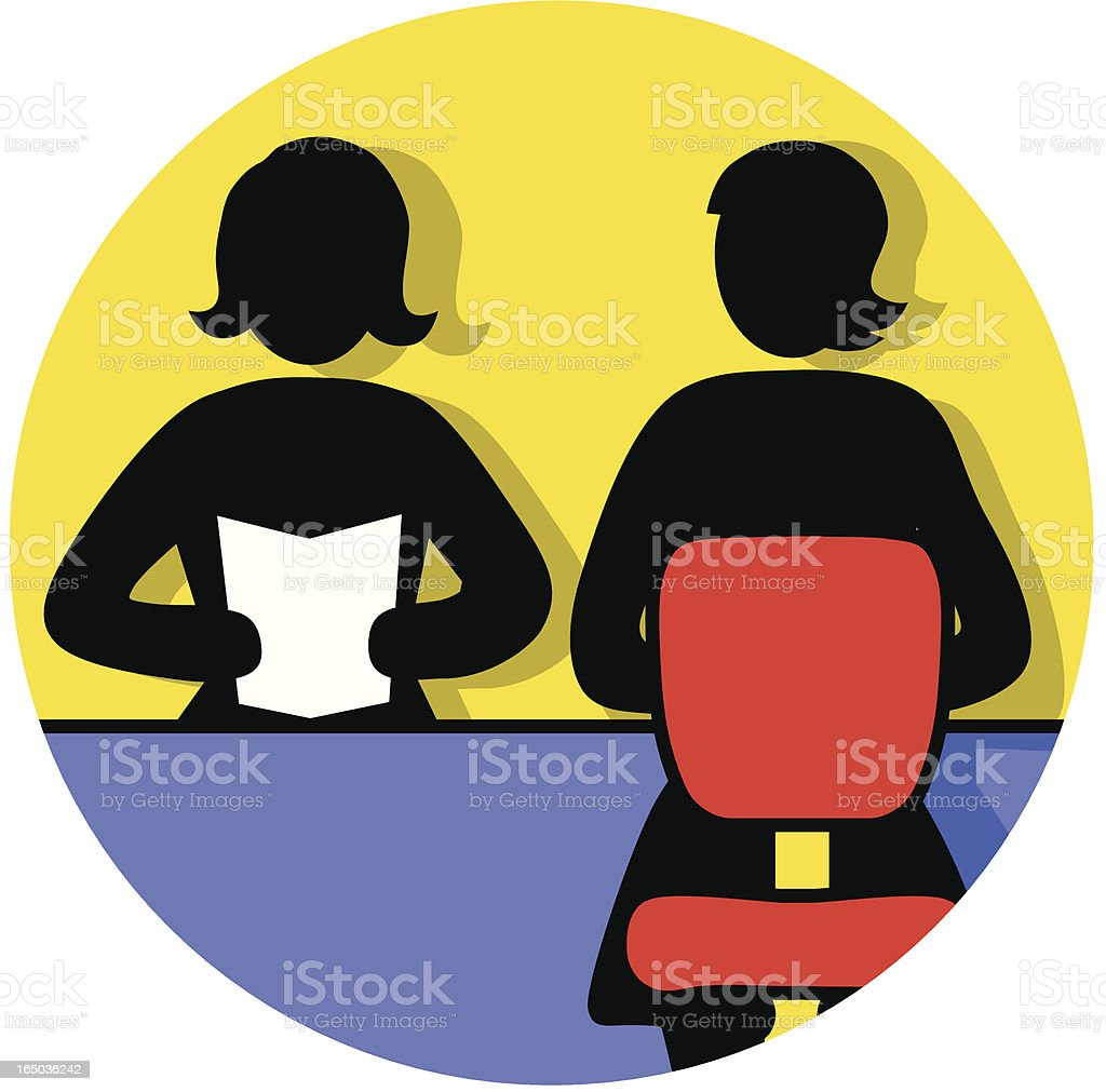 interviewing women icon royalty-free stock vector art