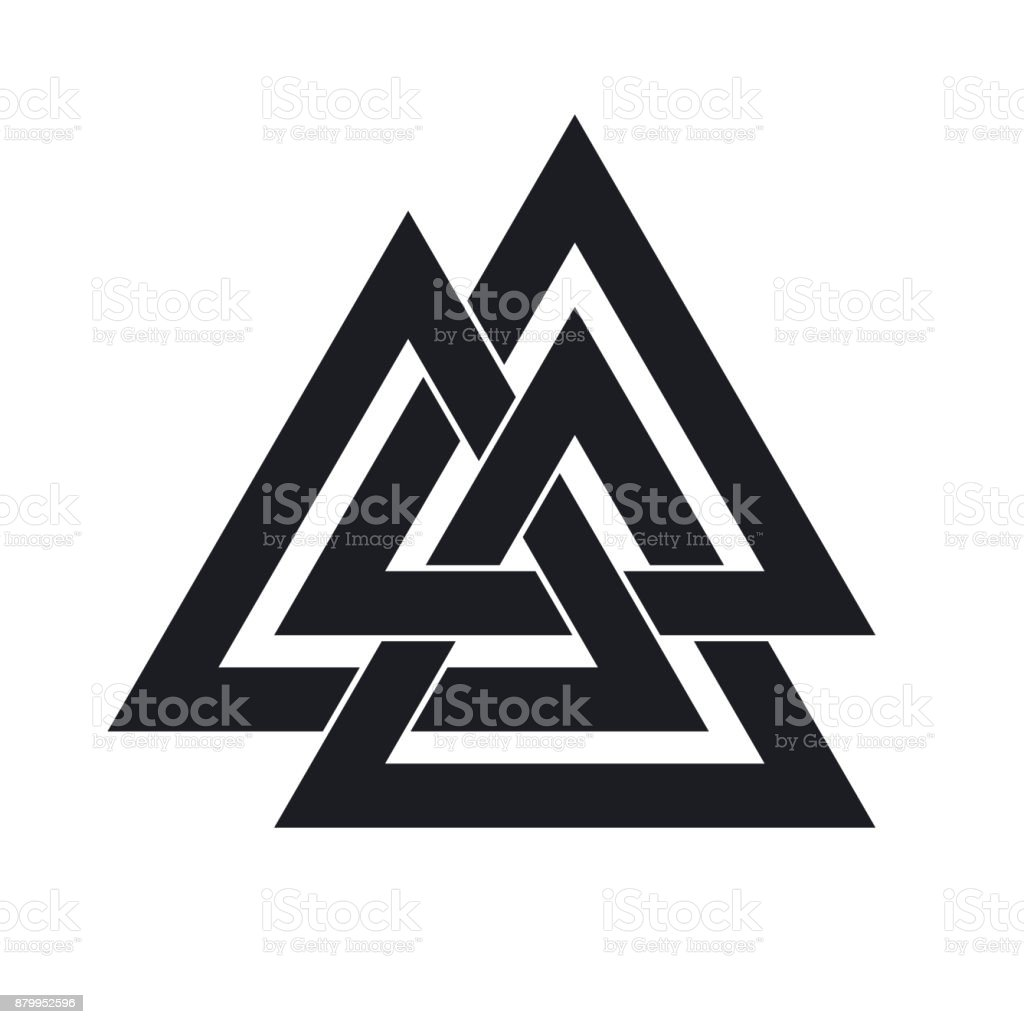 Interwoven triangles vector illustration stock vector art 879952596 chain tattoo russia black color cut out buycottarizona Images