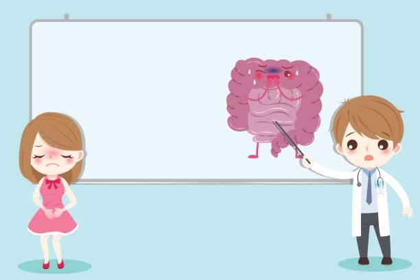 darm gesundheitskonzept - keks grafiken stock-grafiken, -clipart, -cartoons und -symbole