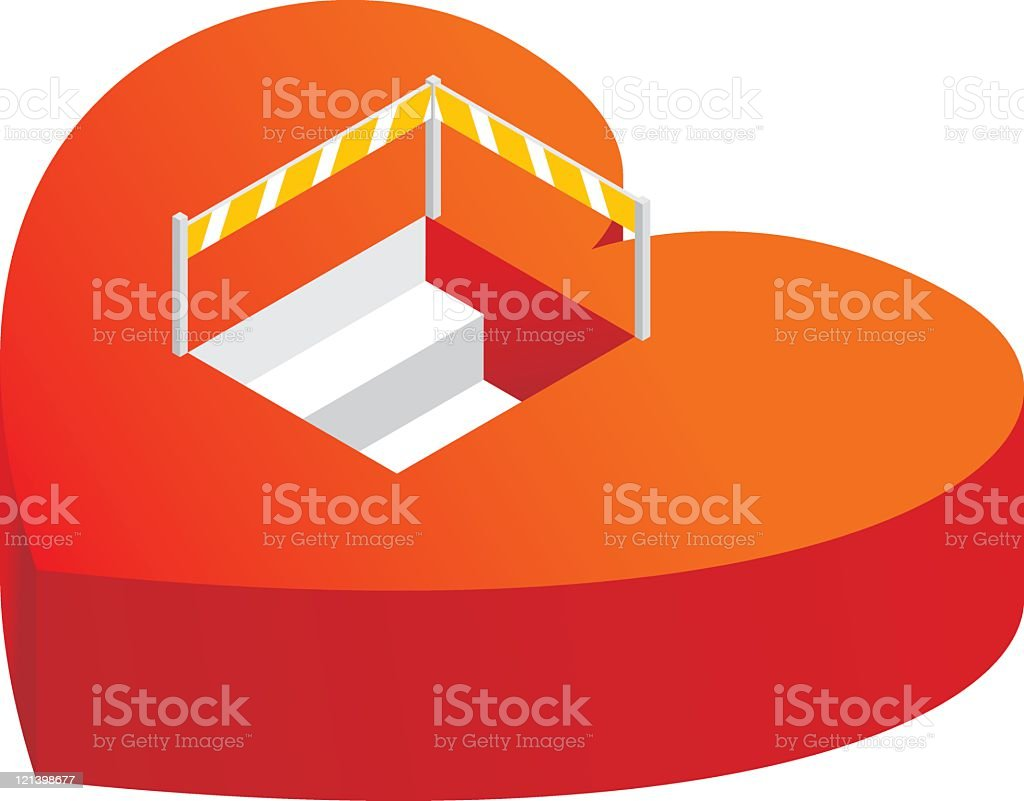 Into the Heart royalty-free stock vector art