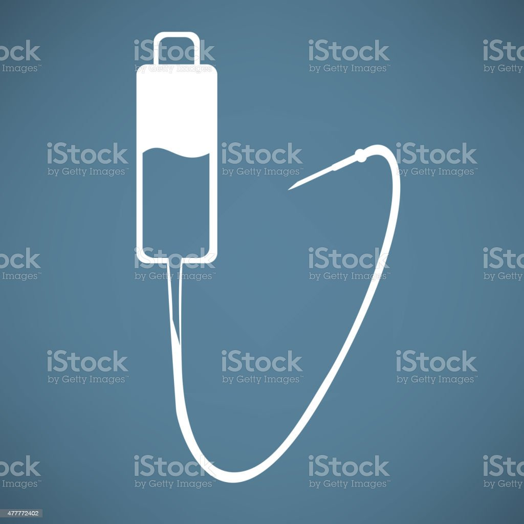 Intravenous therapy system icon.Medical dropper vector art illustration