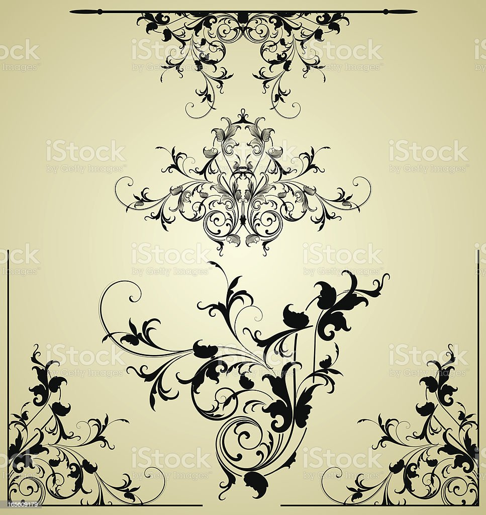 Intricate Arabesque Set royalty-free stock vector art