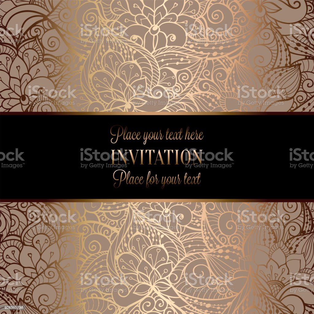 Intricate Baroque Luxury Wedding Invitation Card Stock Illustration -  Download Image Now - iStock