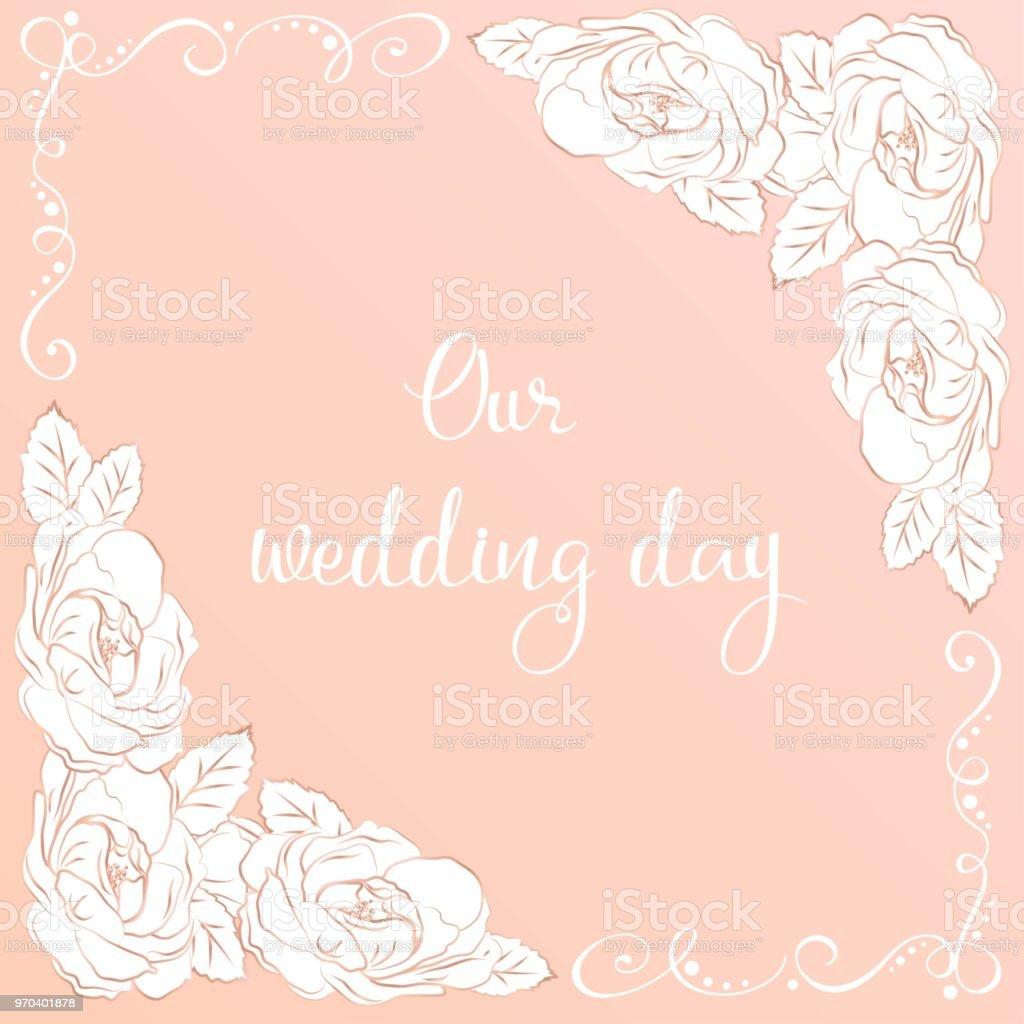 Intricate Baroque Luxury Wedding Invitations Rich Rose Gold Decor On ...