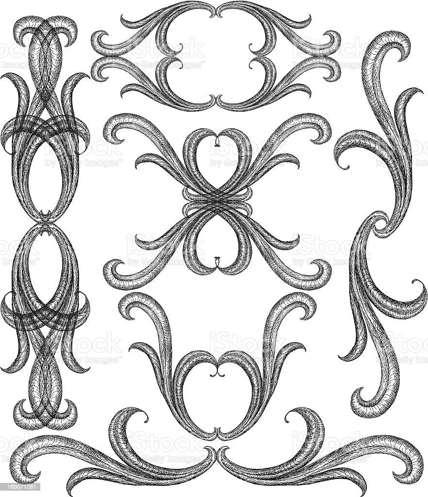 intricate curls royalty-free stock vector art