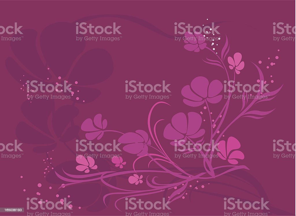 intricate florals royalty-free stock vector art