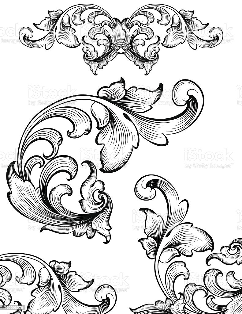 Intricate Flourish Set Stock Illustration Download Image