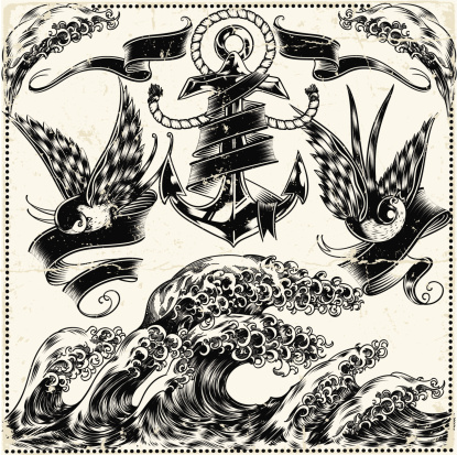 Nautical collection, inked style.