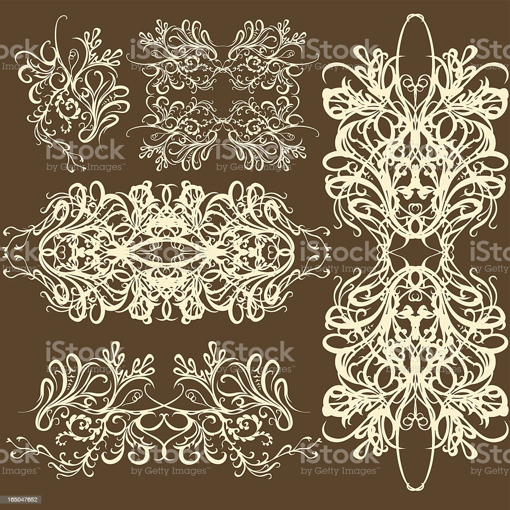 intricate ornament set royalty-free stock vector art