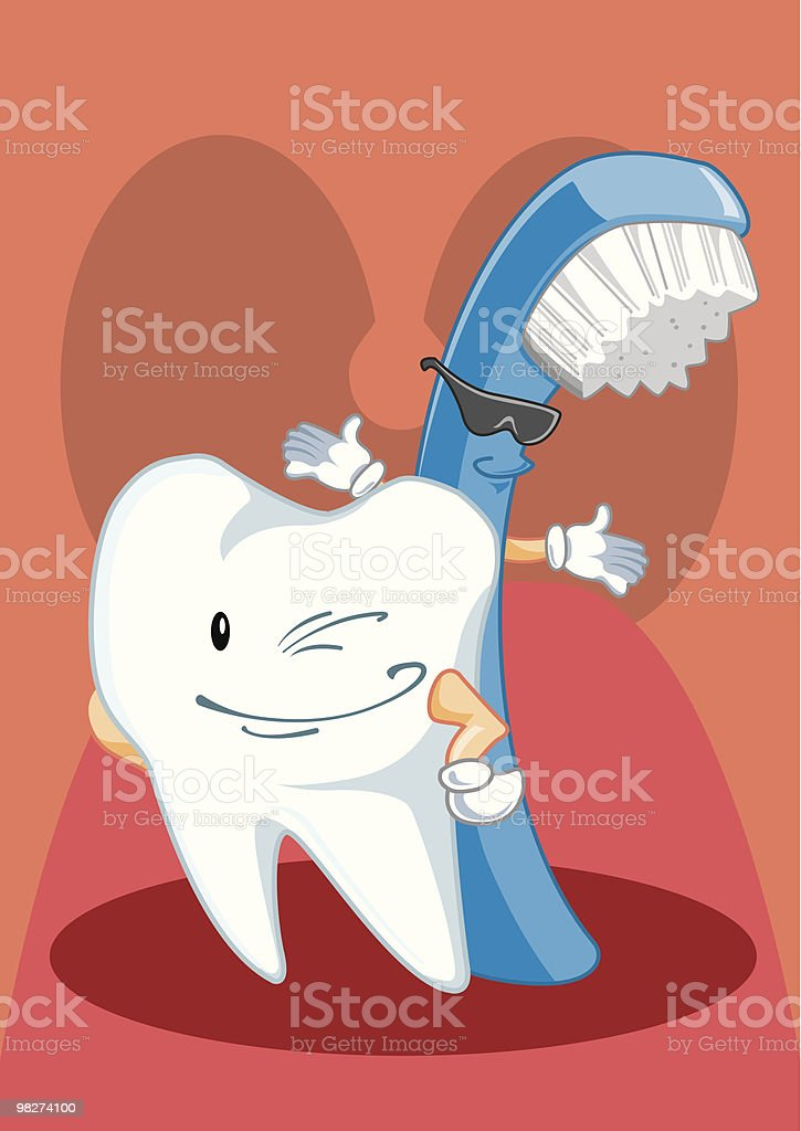 Introducing...Tooth & Brush royalty-free introducingtooth brush stock vector art & more images of biology