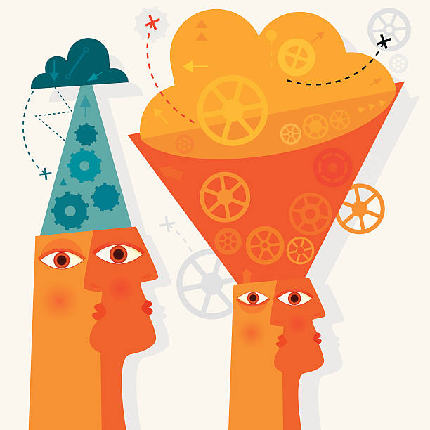 Introverted And Extroverted Personality Introverted And Extroverted Personality – Concept. showing off stock illustrations