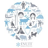 Inuit Life Collage