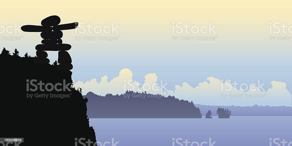 Inukshuk royalty-free stock vector art
