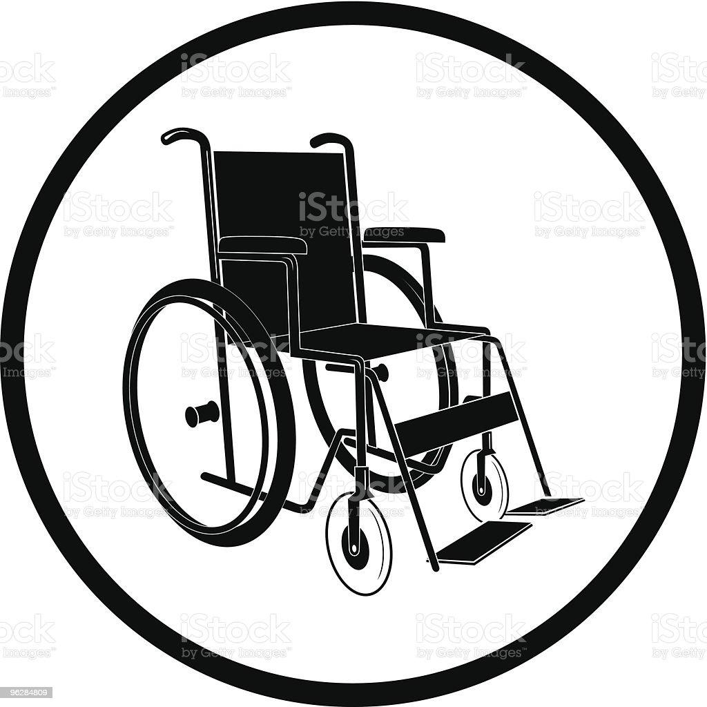invalid chair vector art illustration